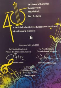 Mention obtenue - Courroux juin 2017